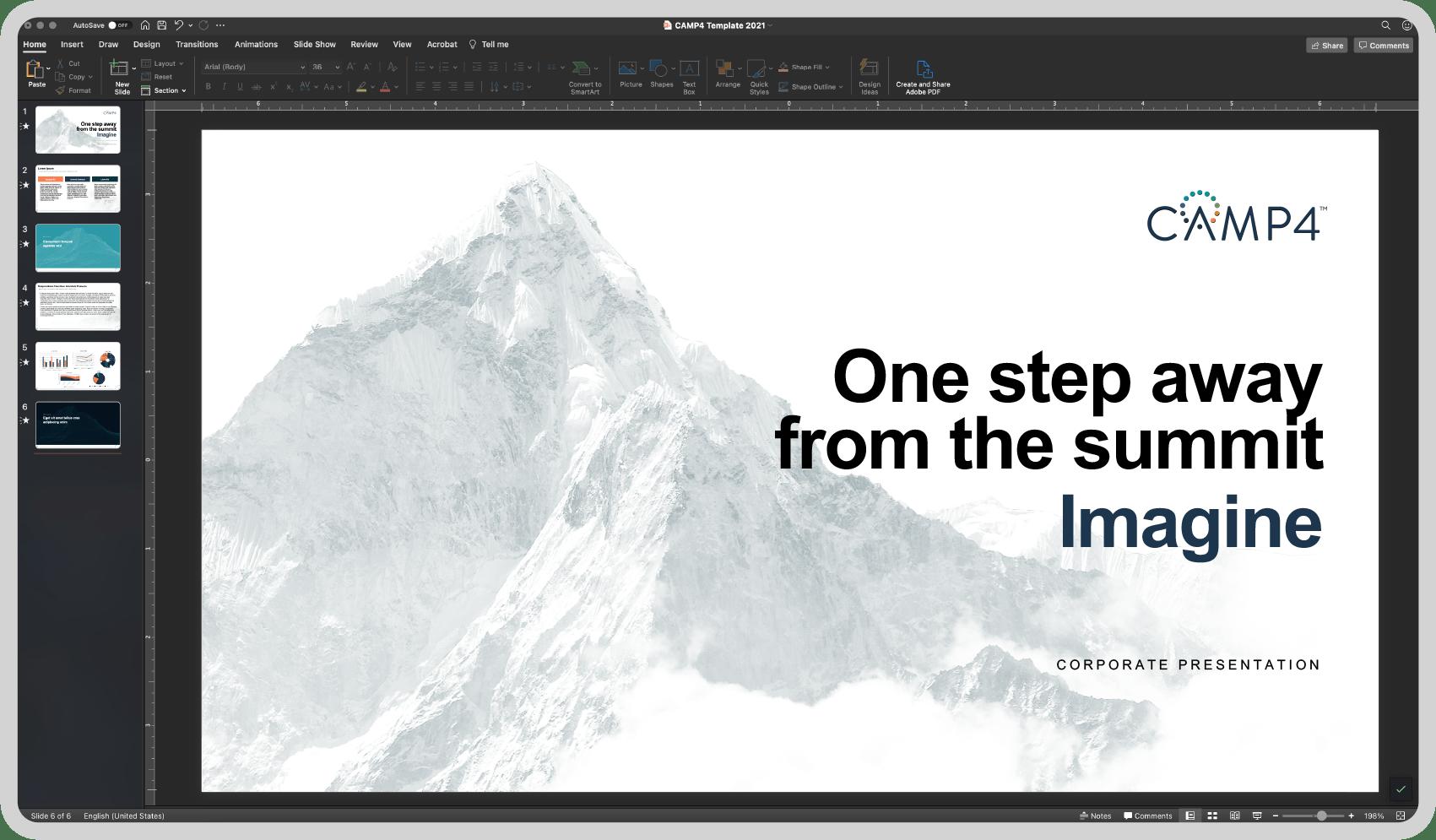 screenshot of powerpoint presentation title slide: