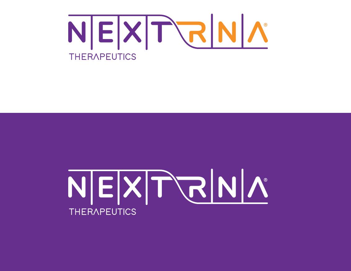 NextRNA color (Purple and orange) logos, and white logo