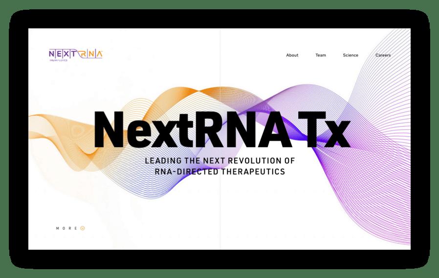 screenshot of NextRNA homepage